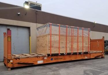shipping machinery overseas